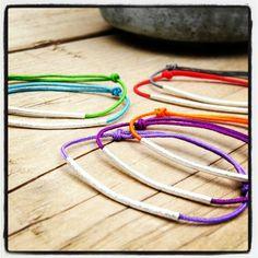 Beautiful bracelets colors for summer! http://shop.tassjoies.com/productos/pulsera-fils