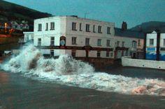 Waves crashing at Combe Martin #NDevon #NorthDevon #Devon