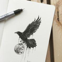 cuervo ideas de disenos de tatuajes de animales