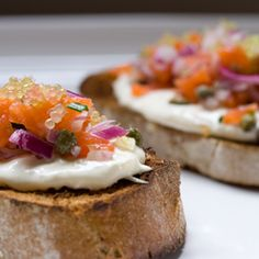 Smoked Salmon Tartare with Finger Lime Caviar