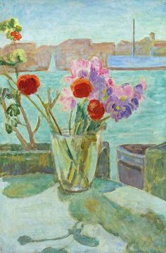 Vanessa Bell - Flowers on a Balcony
