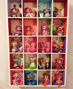Lalaloopsy fan Meredith Lynch took a wood craft box, painted it and glued scrapbooking paper to the back to create this sew wonderful Mini Lalaloopsy display!