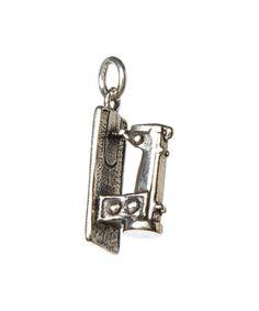 Look at this #zulilyfind! Sterling Silver Sewing Machine Charm by FIVE by Littlefield Lane #zulilyfinds