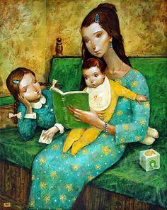 O Lobo Leitor: A mãe leitora / Madre lectora / Story time