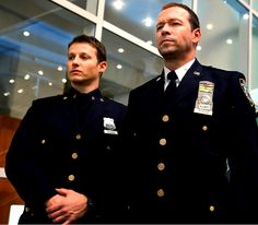Will Estes and Donnie Wahlberg. Brothers, on Blue Bloods.