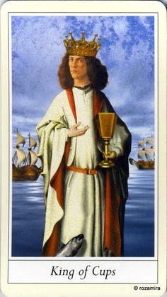 King of Cups - Lovers' Tarot by Jane Lyle and Oliver Burston