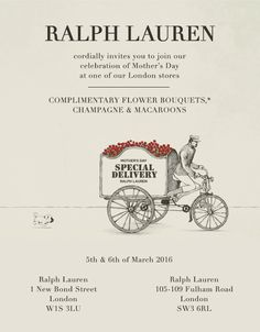 Ralph Lauren Invites You to Our Mother's Day Event*