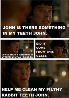 Ha...rabbit teeth