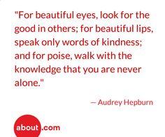 Beautiful words by a beautiful woman.