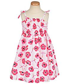 "Sugah & Honey ""Watercolor Poppies"" Dress $10"