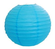 """Set of 10 Turquoise Paper Party Lanterns 14"""" by ES. $22.50. Party Lanterns. Size 14"""" L x 13"""" H. Can be used with string lights for lighting decor. 10 pcs. Big Paper Lantern - White color. Paper lanterns are perfect for indoor and outdoor party decorations. Great for weddings, parties, and baby showers.  - 10 Turquoise Paper Lanterns - Size :14"""" wide"""