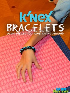 Create a K'NEX Bracelet using pieces you have laying around! - SahmReviews.com #DIY #Accessories