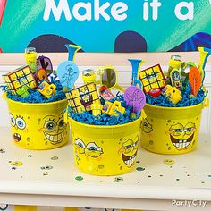 Throw your child a creative SpongeBob Square Pants birthday party with all the elements from the cartoon. Find fun, unique ideas for everything you need to throw an amazing SpongeBob party! Sons Birthday, 6th Birthday Parties, Birthday Party Decorations, Party Themes, Birthday Ideas, Birthday Bash, Ideas Party, Spongebob Birthday Party, Spongebob Party Ideas