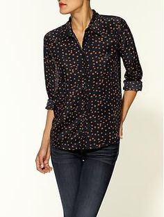 Pim + Larkin Dot Print Button-Down Blouse | Piperlime $20