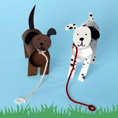 Make a replica of your dog out of a toilet paper tube! Kids Crafts, Animal Crafts For Kids, Dog Crafts, Projects For Kids, Diy For Kids, Craft Projects, Toilet Roll Craft, Toilet Paper Roll Crafts, Toilet Tube