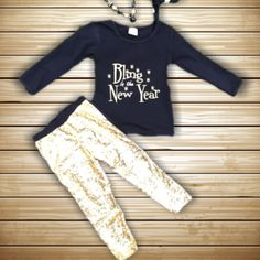 Bling In The New Year Gold Sequin Outfit