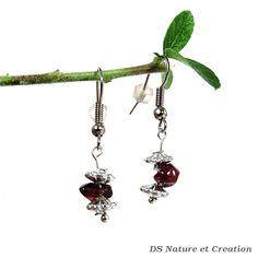 Dainty jewelry red garnet earrings dangle by DSNatureetCreation https://www.etsy.com/listing/242825993/dainty-jewelry-red-garnet-earrings