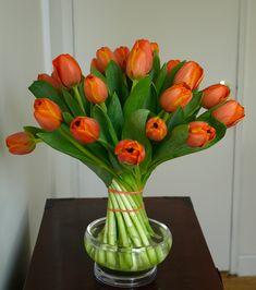 How to twist tulips