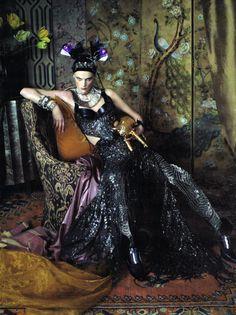 Saskia de Brauw, Milou van Groesen & Julia Saner by Steven Meisel for Vogue Italia March 2011