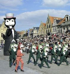 The Kattenstoet, Festival of the Cats, is a parade in Ypres, Belgium, devoted to the cat. It is held every third year on the second Sunday of May.