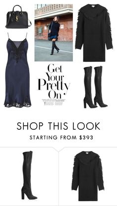"""""""Winter Layering: Slip Dress Over Sweater Dress"""" by junglover ❤ liked on Polyvore featuring Karen Millen, Aquazzura, Kenzo, Yves Saint Laurent, women's clothing, women's fashion, women, female, woman and misses"""