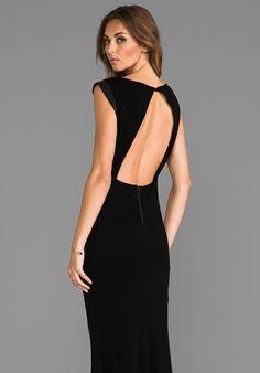Selena maxi dress black halo
