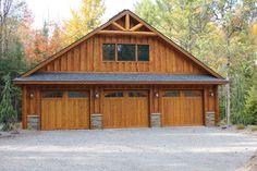 3 Car Garage Plans, Garage Plans With Loft, Garage Shed, Barn Garage, Garage House, Garage Ideas, Garage Workshop, Tudor House Exterior, Small Barn Plans