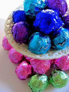 package in colorful foil