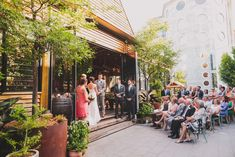 Atrium ceremony on the steps