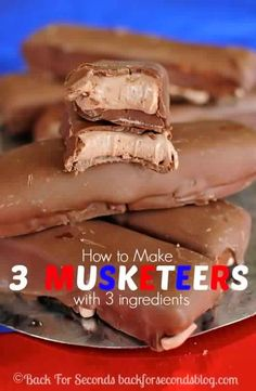 Easy Homemade 3 Musketeers .