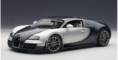 Bugatti Veyron 16.4 Super Sport Dark Blue / Silver White Doors AUTOart 70939