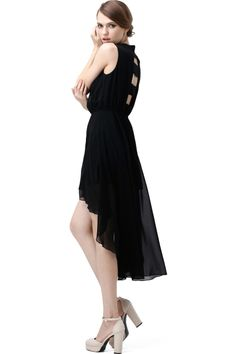 Cut Out Back Anomalous Shift Dress - Fashion Clothing, Latest Street Fashion At Abaday.com