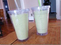 blueberry kale protein smoothie