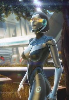 Artist: Florian Guilbot aka Brinx-II - Mass Effect - EDI - http://brinx-ii.deviantart.com/ - #FlorianGuilbot - #Brinx2