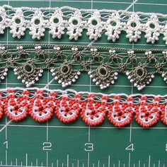 Beaded oya trims by ColorsofRengin on Etsy, $15.00
