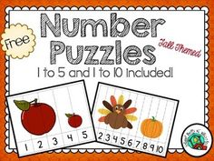 FREE - Number Puzzles/ Free / Numbers 1 to 5 and 1 to 10