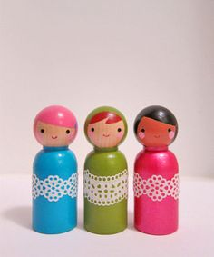 peg dolls - a cute addition for celebration ring