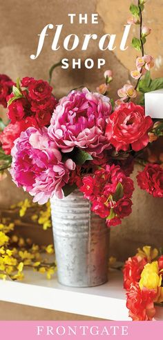 Learn how to make a water-free arrangement with florals so lifelike no one will guess they aren't fresh from the garden. Little Buds, Flowers Perennials, Accent Decor, Floral Arrangements, Beautiful Homes, Florals, Planter Pots, Interior Decorating, House Design