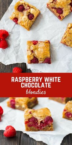 Ultra-moist raspberry white chocolate blondies are absolutely irresistible. You won't believe how easy they are to make! Get the recipe on RachelCooks.com! via @rachelcooksblog