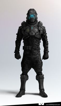 Concept armor for humans. Minus the helmet. Have to have eyes uncovered to be identified and not shot at