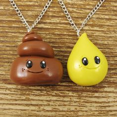 BFF Best Friends Necklace Set  Pee and Poo by rapscalliondesign, $28.63