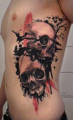 Skull tattoos by ILOna