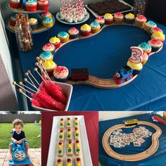 Thomas the Train Birthday Party - Leah With Love Thomas Birthday Parties, Thomas The Train Birthday Party, Trains Birthday Party, Train Party, Birthday Party Themes, Birthday Ideas, Train Birthday Cakes, Thomas Birthday Cakes, Zug Party