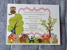 Invitations by The Paper Bride • custom order? Contact me today www.facebook.com/ThePaperBrideConsultantRebecca Babies R Us, Little Babies, Sears Baby, Invitation Design, Invitations, October 25, Baby Deer, Rsvp, Baby Shower