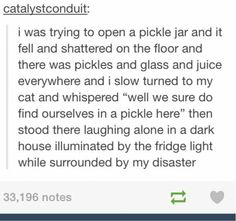 This sounds like something I would do. Except I don't have a cat so I would be talking to my invisible friend.
