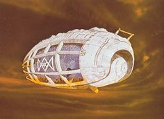 Sketch for spice container | Jodorowsky's Dune | Concept art by Chris Foss