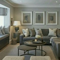 Here are 30 elegant living room color schemes for your home. Home Living Room, Living Room Color Schemes, Home, New Living Room, Tan Living Room, Living Room Grey, Elegant Living, Earthy Living Room, Home And Living