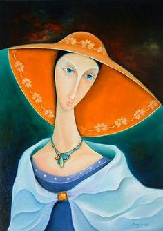 Brightness and vivid colors in paintings by Orestes Bouzon - Ego - AlterEgo Louis Jover, Figurative Kunst, Cuban Art, Orange Design, Painting People, Arte Popular, Silk Painting, Beauty Art, Illustrations
