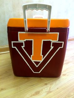 Cooler Painting, Frat Coolers, Grad Gifts, Virginia Tech, Sorority Life, Tech Gifts, Wizards, Wells, Paddle