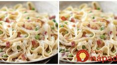 PHILADELPHIA Quick Pasta Carbonara – Cream cheese is the shortcut to making this classic Italian sauce. Bacon gives it added flavor. Just 20 minutes to fix makes it the perfect dish for business nights. Philadelphia cream cheese is an american favorite. Fettuccine Recipes, Pasta Recipes, Dinner Recipes, Cooking Recipes, Healthy Recipes, Fettuccine Alfredo, Sauce Recipes, Cheese Recipes, Cooking Tips